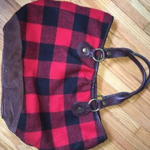 Wool and Leather Lucky Brand Purse